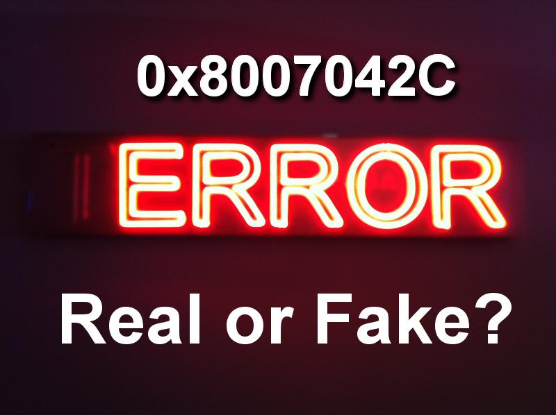 0x8007042C error