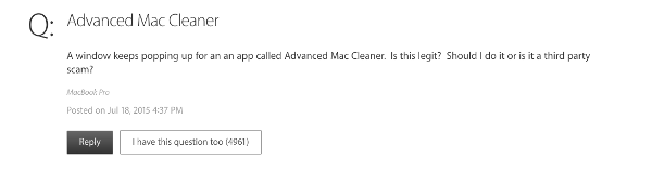 Adcanced mac cleaner question